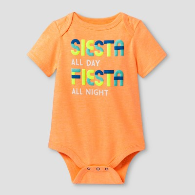 Baby Boys' Siesta/Fiesta Bodysuit - Cat & Jack™ Orange 0-3 Months