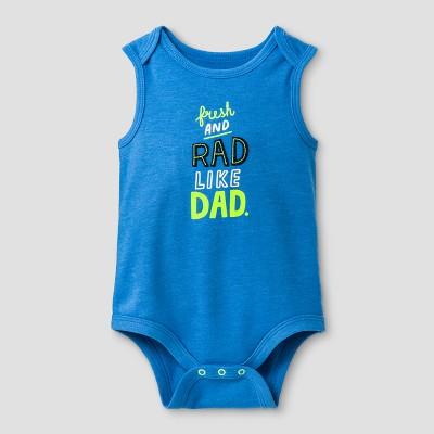 Baby Boys' Rad Like Dad Tank Bodysuits - Cat & Jack™ Blue NB