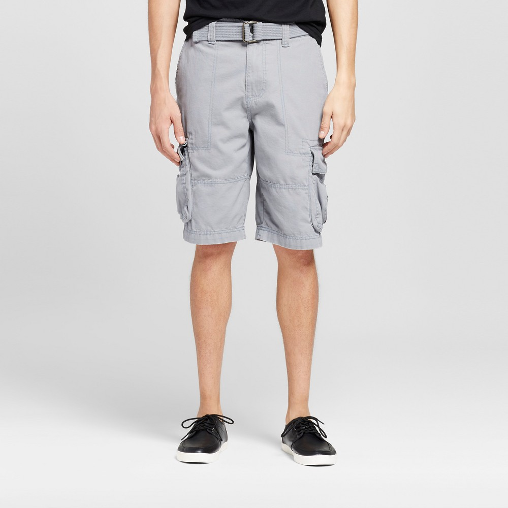 Mens Belted Cargo Shorts - Mossimo Supply Co. Light Gray 36