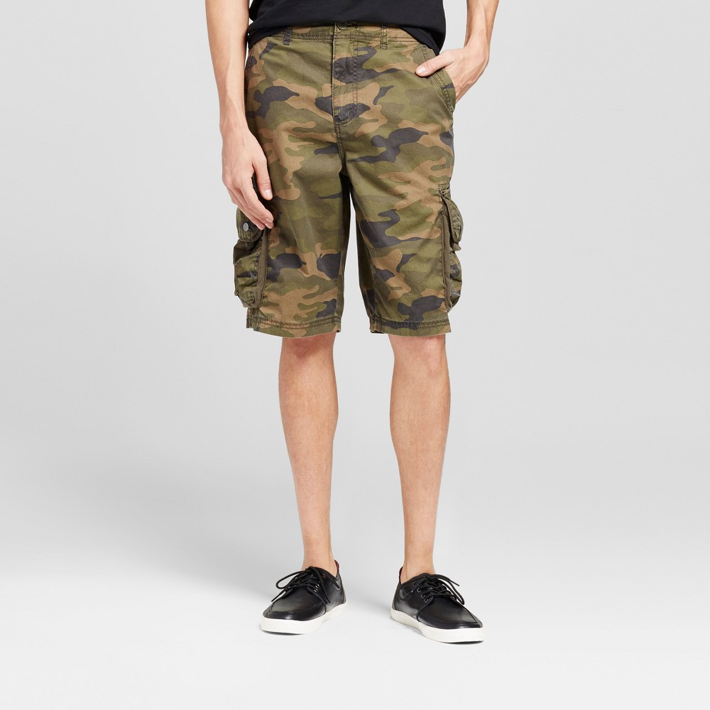 Mens Cargo Shorts - Mossimo Supply Co. Camo 34, Blue