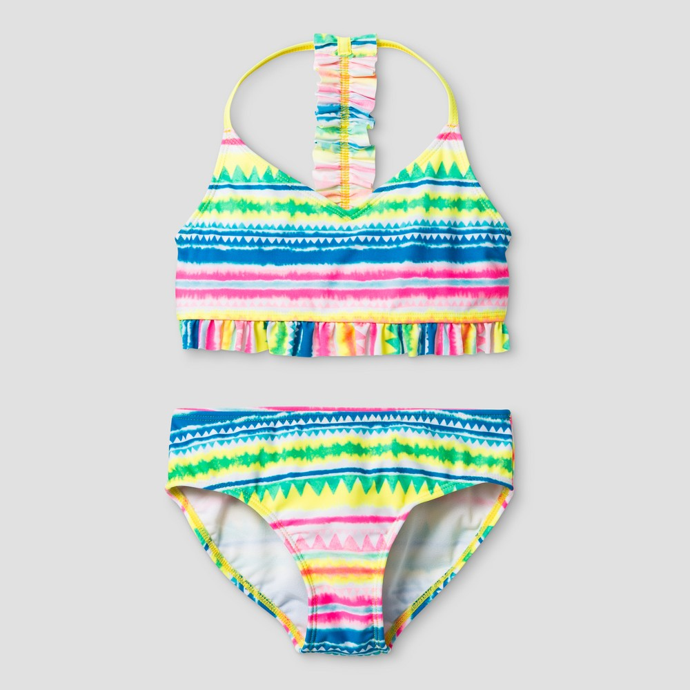 Girls Ruffle Bikini - Cat & Jack L, Multicolored