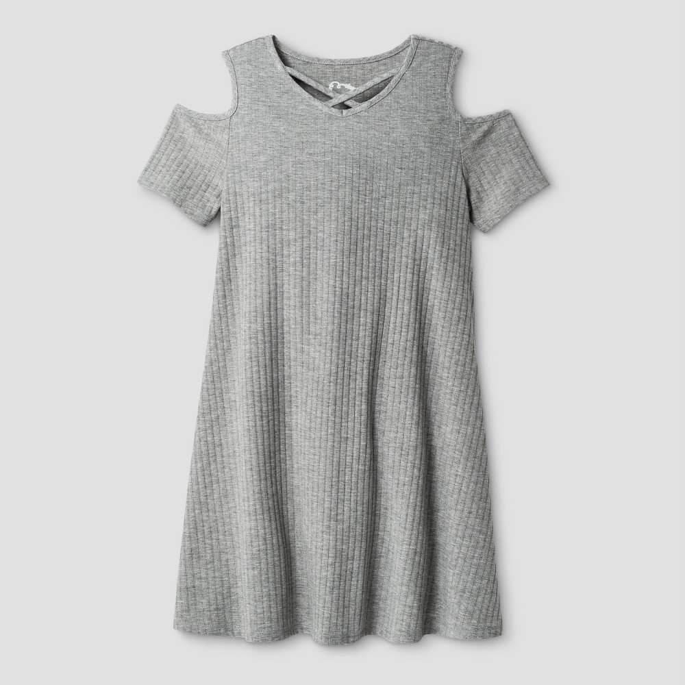 Girls Knit Dress Art Class - Heather Gray XS
