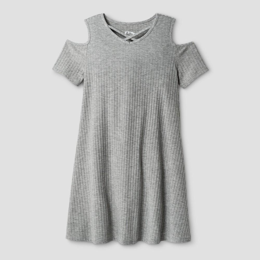 Girls Knit Dress Art Class - Heather Gray S