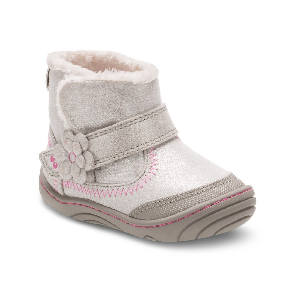 Girls Surprize by Stride Rite Arliss Fashion Boots - Gray 5, Silver Gray