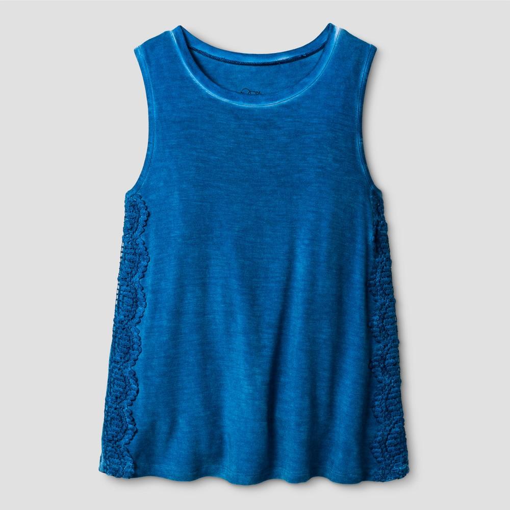 Girls Drapey Tank Top - Art Class Blue L