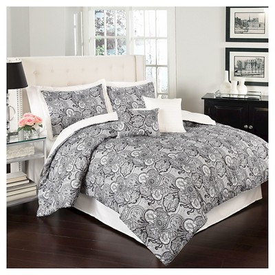 Ivory Paisley Paddock Shawl Comforter Set (King)6pc - Traditions by Waverly®
