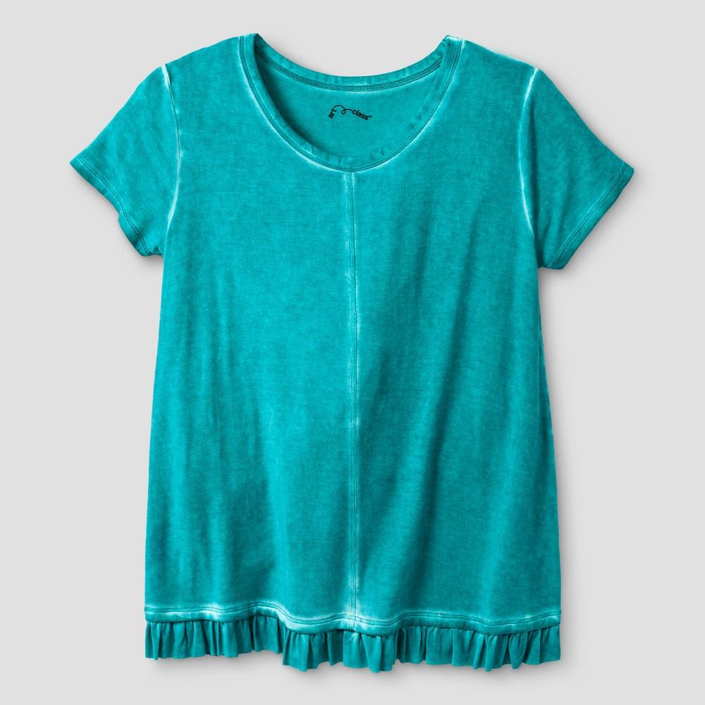 Girls Ruffle T-Shirt - Art Class Aqua (Blue) S, Size: S (6-6X)