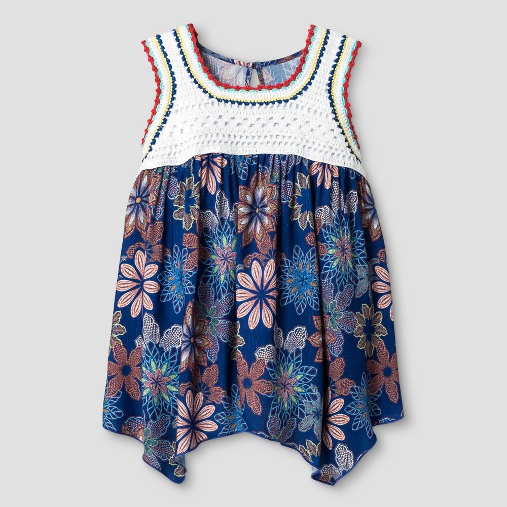 Girls Crochet Blouse - Art Class Extreme Blue XS