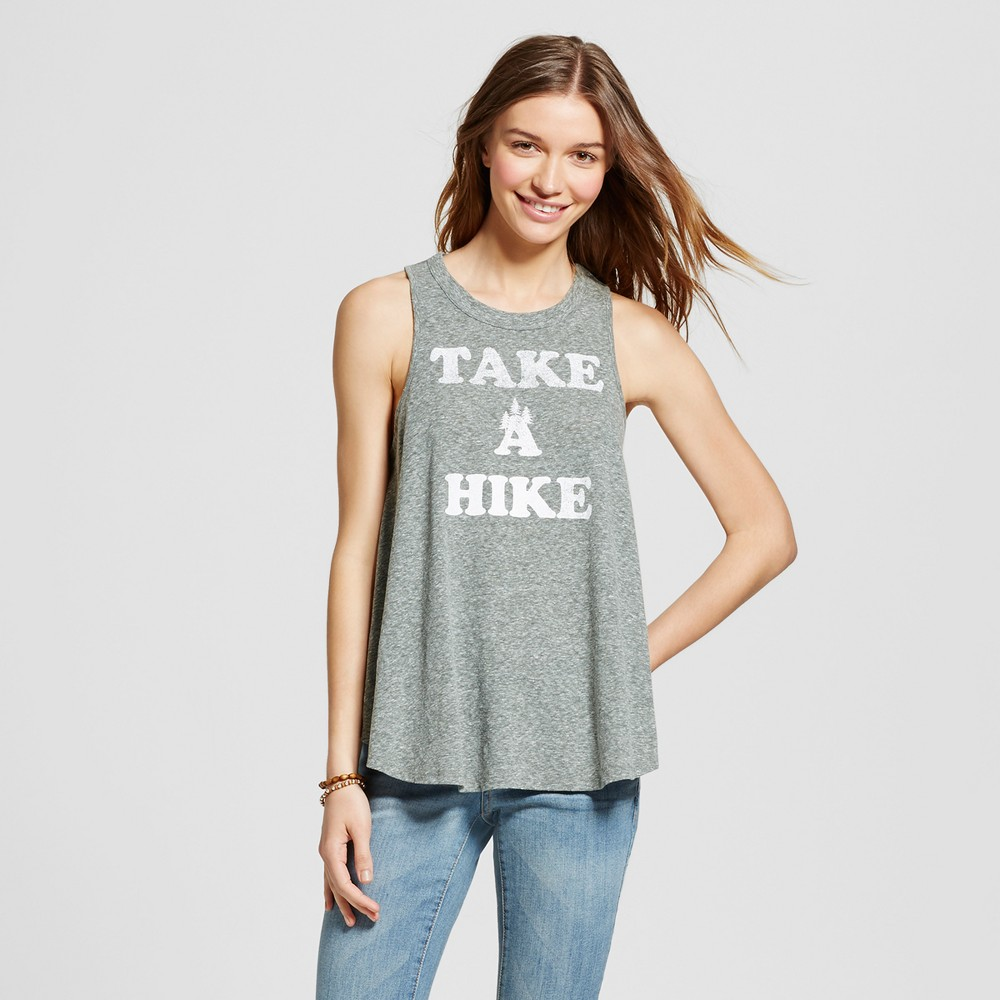 Womens Take A Hike Graphic Tank Kale Green XS - Modern Lux (Juniors)