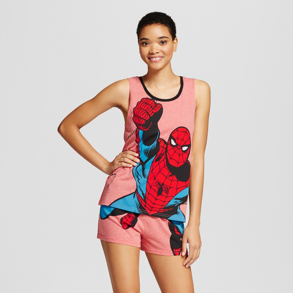Marvel Womens Spider-Man Pajama Set - Red M