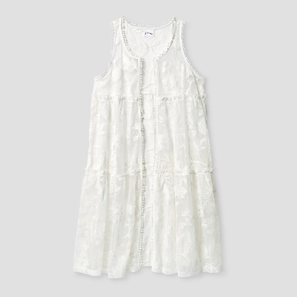 Girls Lace Vest - Art Class White S