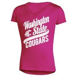 NCAA Washington State Cougars Girls' V-Neck Tunic T-Shirt