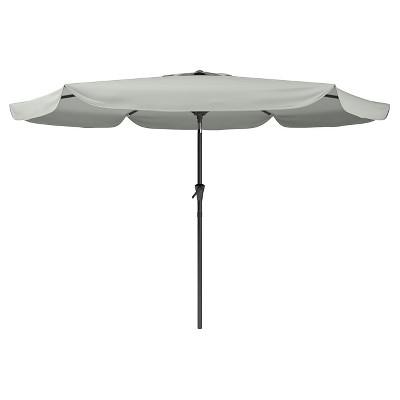 8u0027 Tilting Patio Umbrella Sand Gray   Corliving