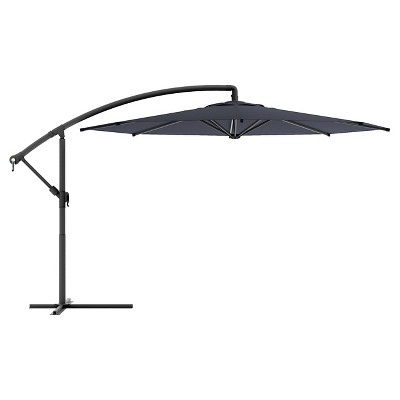 Corliving Offset Patio Umbrella In Black