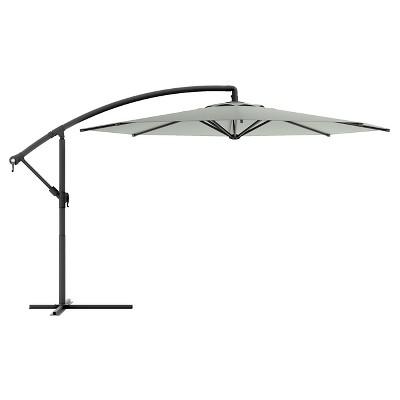 8.25' Offset Patio Umbrella Sand Grey - Corliving