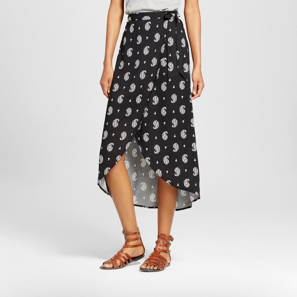 Womens Wrap Maxi Skirt - Xhilaration (Juniors) Black XS