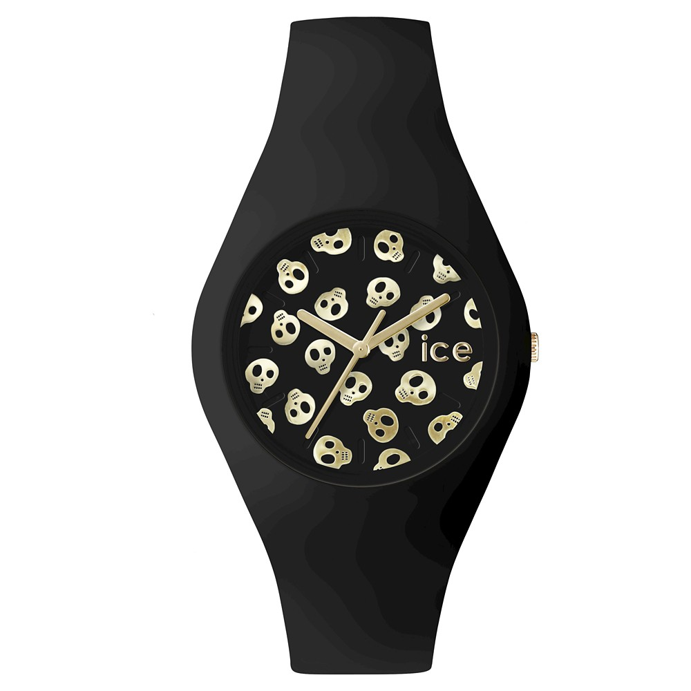 Unisex Ice Watch Ice Skull Analog Watch - Black/Gold