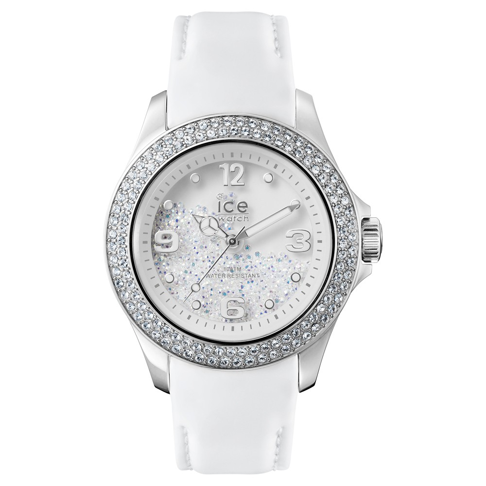 Womens Ice Watch Ice Crystal Analog Watch - Silver/White, Pink