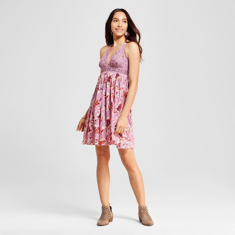 Womens Strappy Triangle Dress - Xhilaration (Juniors) Purple XL