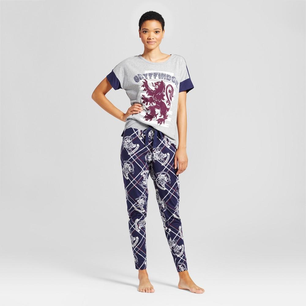 Warner Bros Womens Harry Potter Pajama Set - Gray/Navy L, Blue Gray