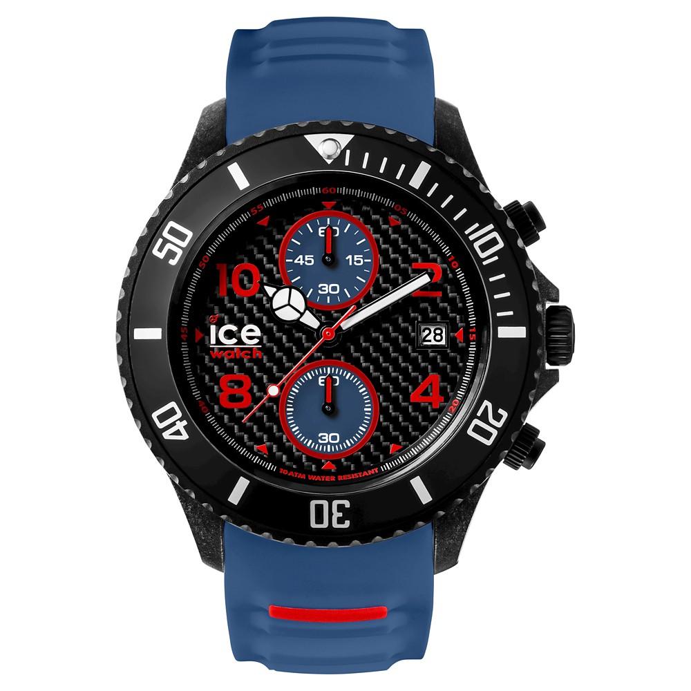 Mens Ice Watch Carbon Chrono Analog Watch - Black/Blue