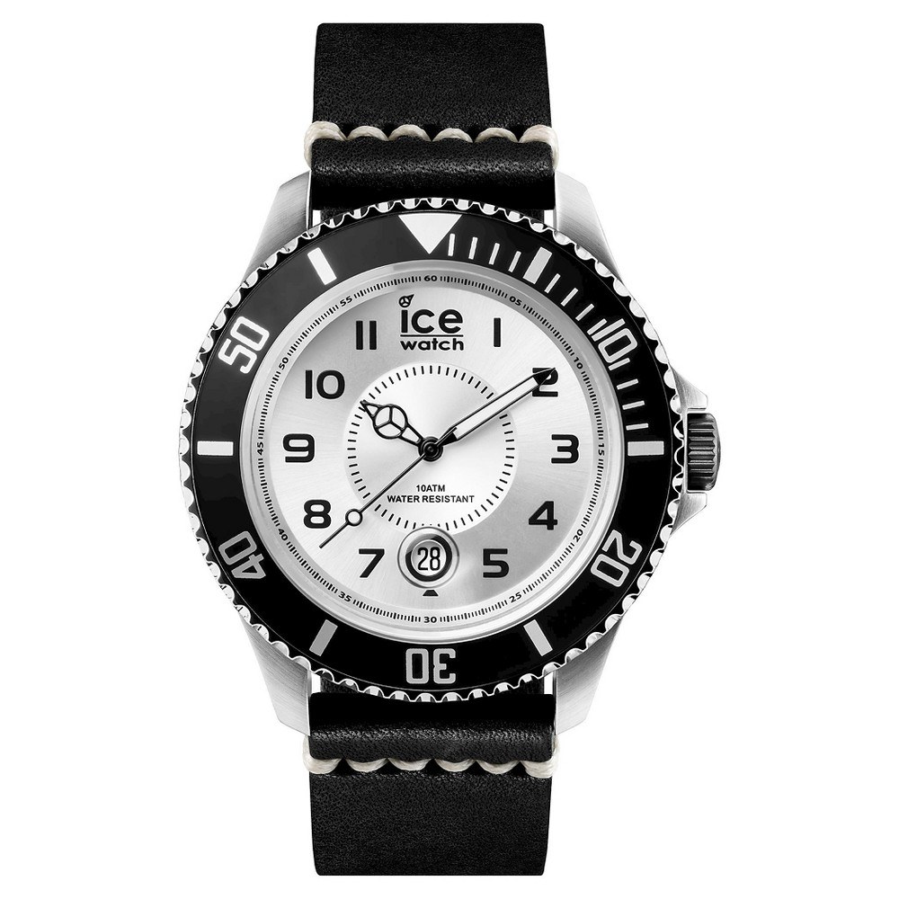 Mens Ice Watch Heritage Analog Watch - Silver/Black
