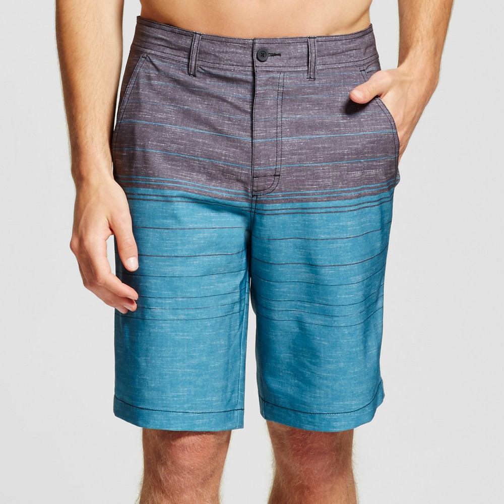 Mens Colorblock Hybrid Shorts - Mossimo Supply Co. Turquoise 38, Blue