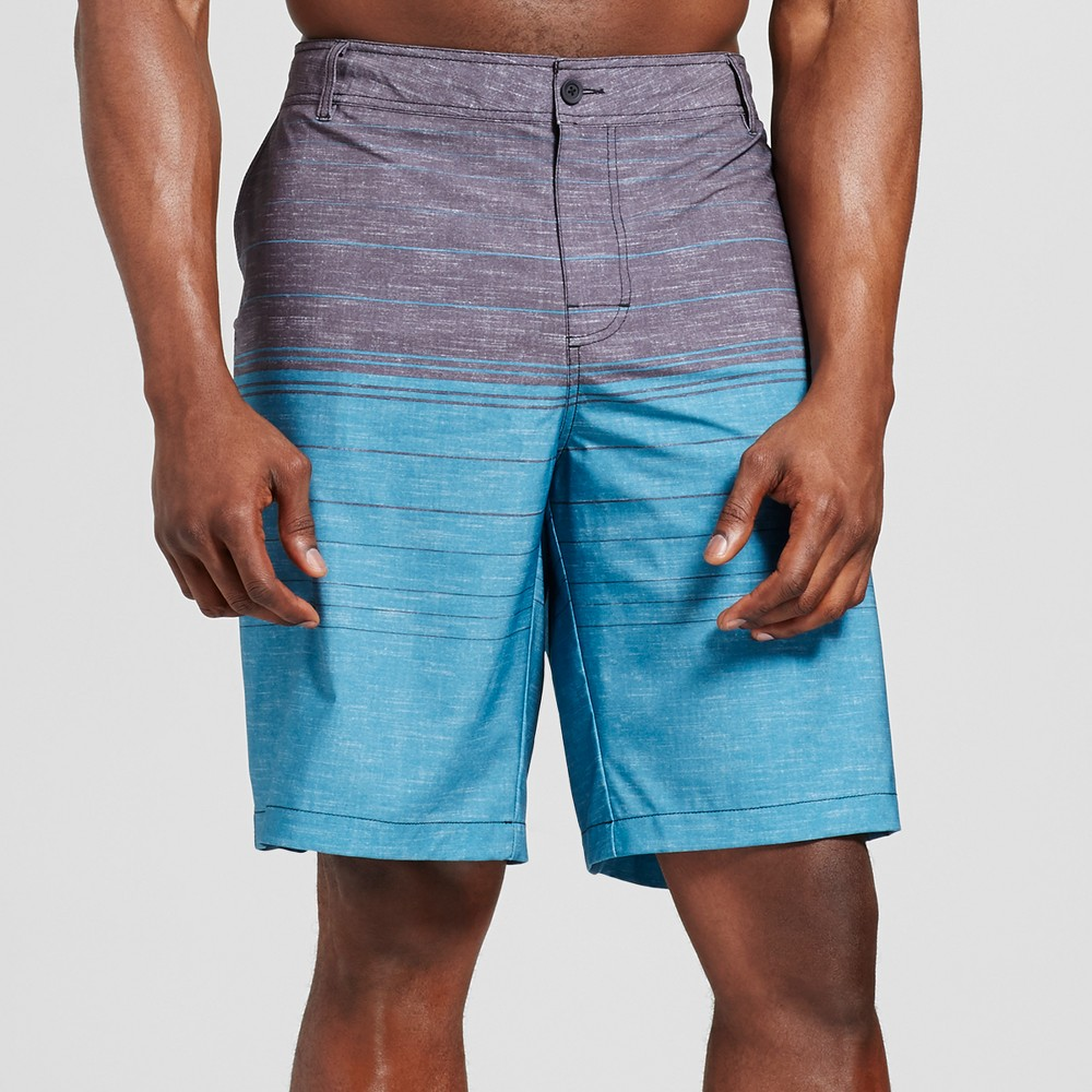 Men's Big & Tall Colorblock Hybrid Shorts - Mossimo Supply Co. Turquoise 54, Blue