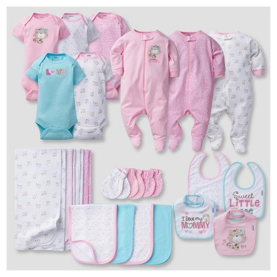 Baby Girls' 23 Piece Kitty Layette Gift Set - Pink 0-3M - Gerber®