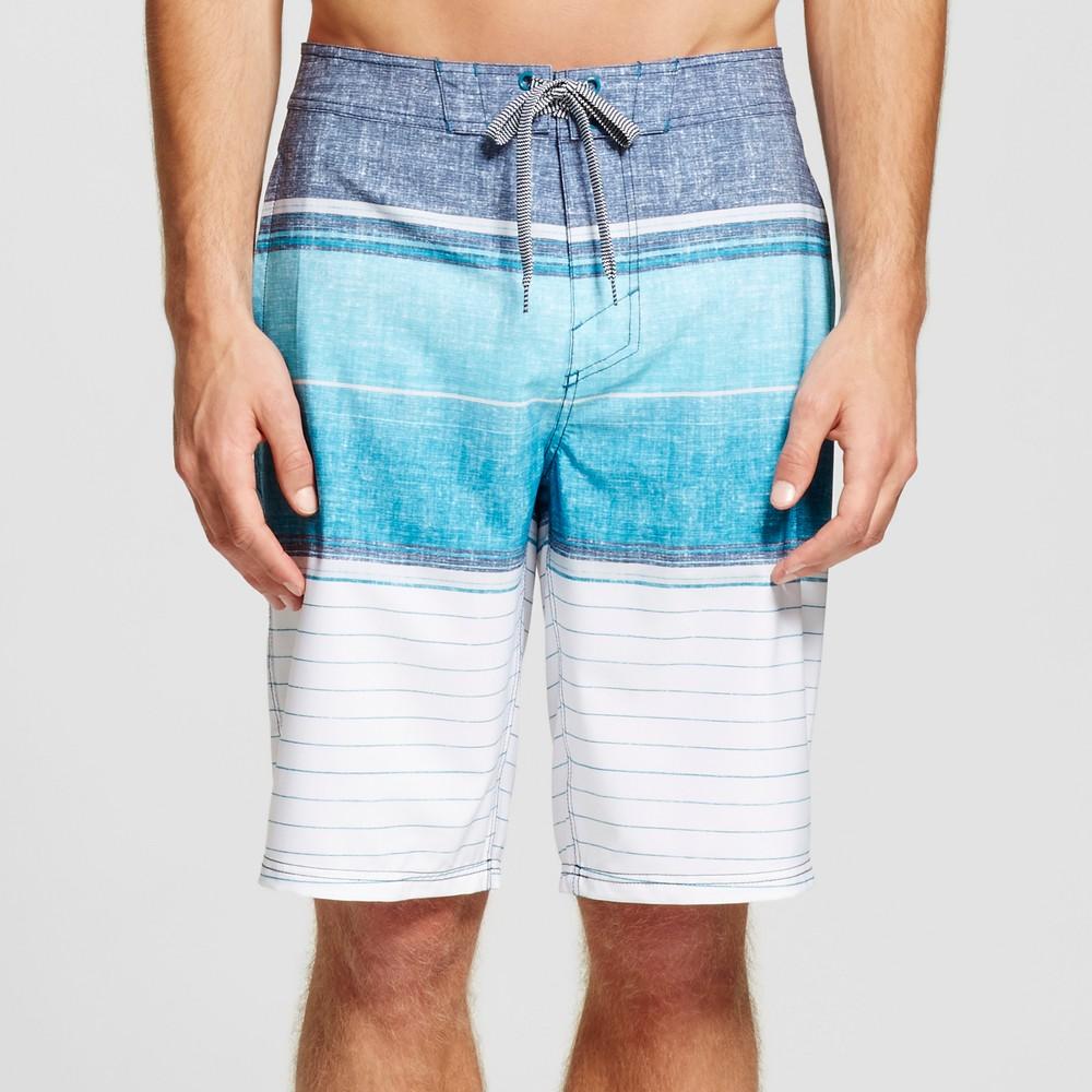 Mens Stripe Board Shorts - Mossimo Supply Co. Blue 28