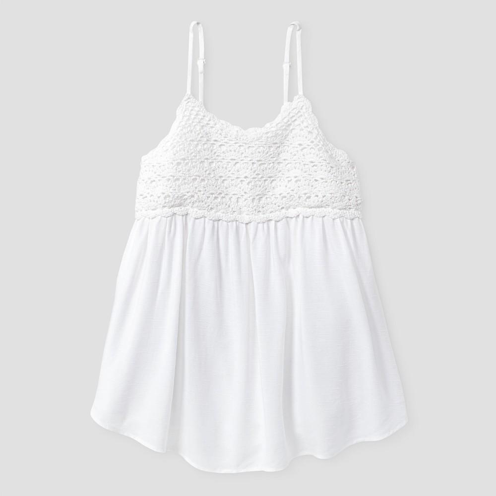 Girls Crochet Tank Top - Art Class White S, Size: S (6-6X)