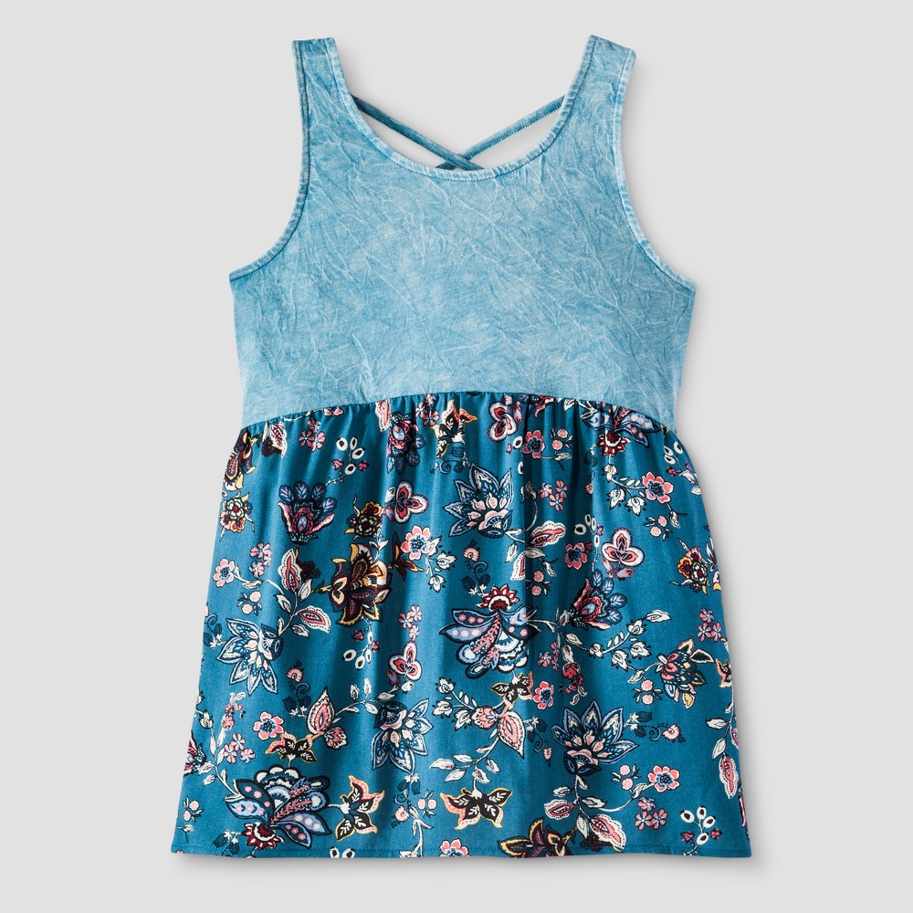 Girls Drapey Tank Top - Art Class Blue XS