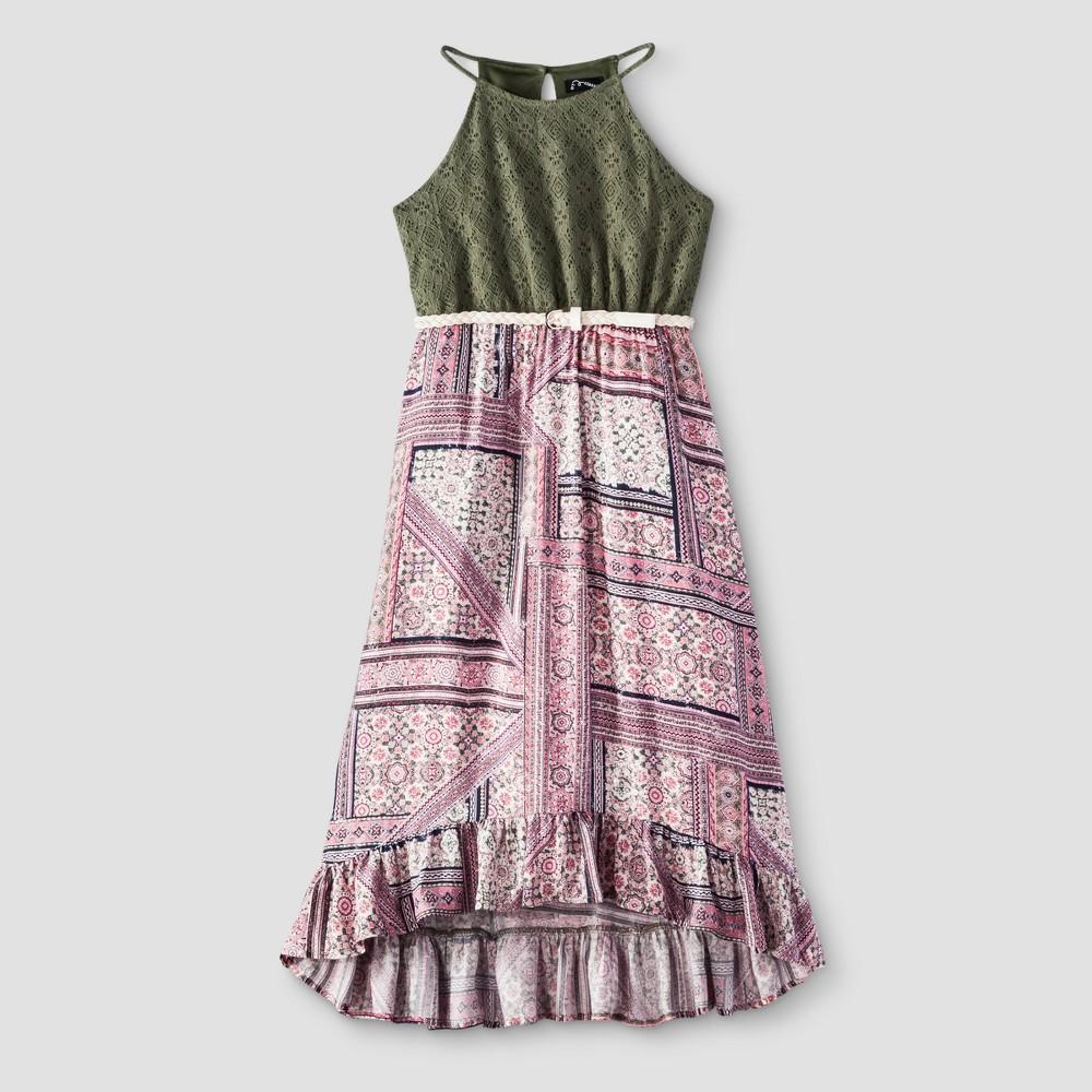 Girls Maxi Dress - Art Class Olive S, Green