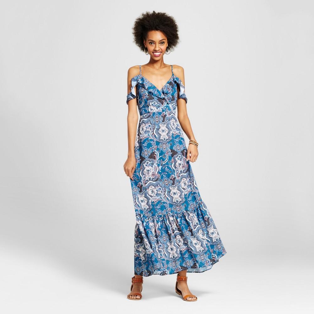 Womens Cold Shoulder Maxi Dress - Xhilaration (Juniors) Blue S