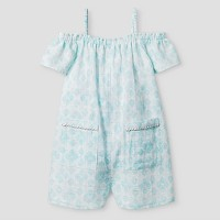 Toddler Girls' Off-the-Sholder Romper - Cat & Jack Light Blue. opens in a new tab.