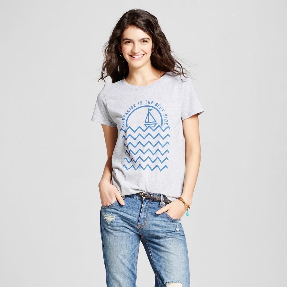Womens California San Diego Oceanside T-Shirt M - Heather Gray (Juniors)