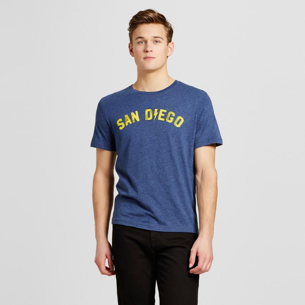 Mens California San Diego Electric T-Shirt XL - Navy, Blue