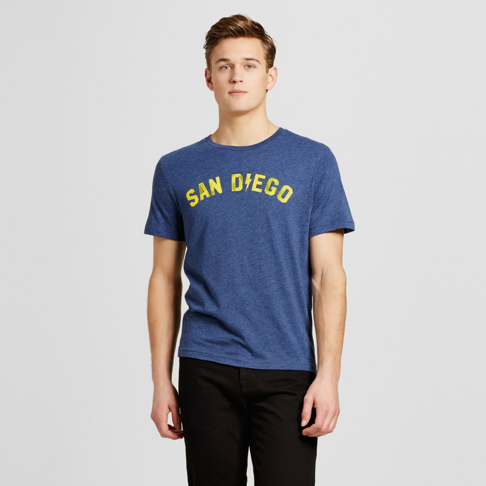 Mens California San Diego Electric T-Shirt Xxl - Navy, Blue