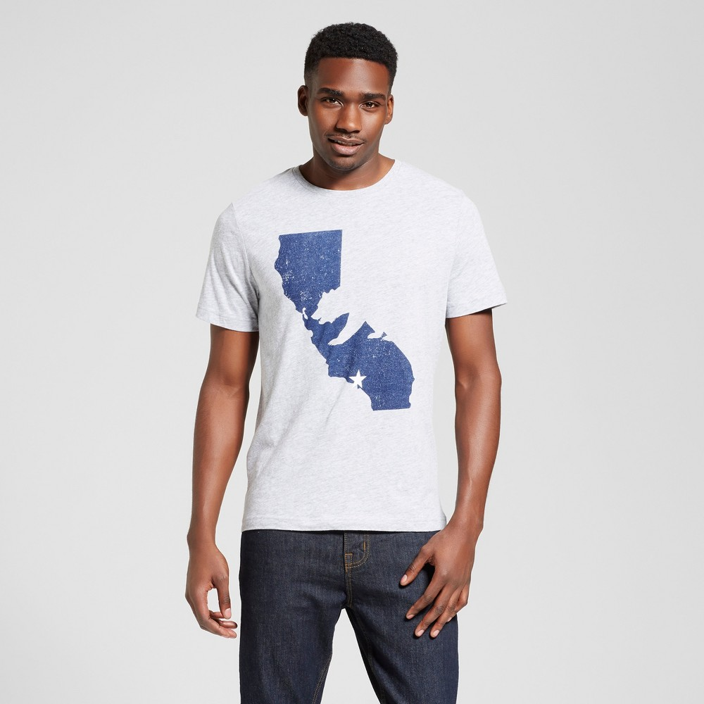 Mens California Bear State T-Shirt M - Heather Gray
