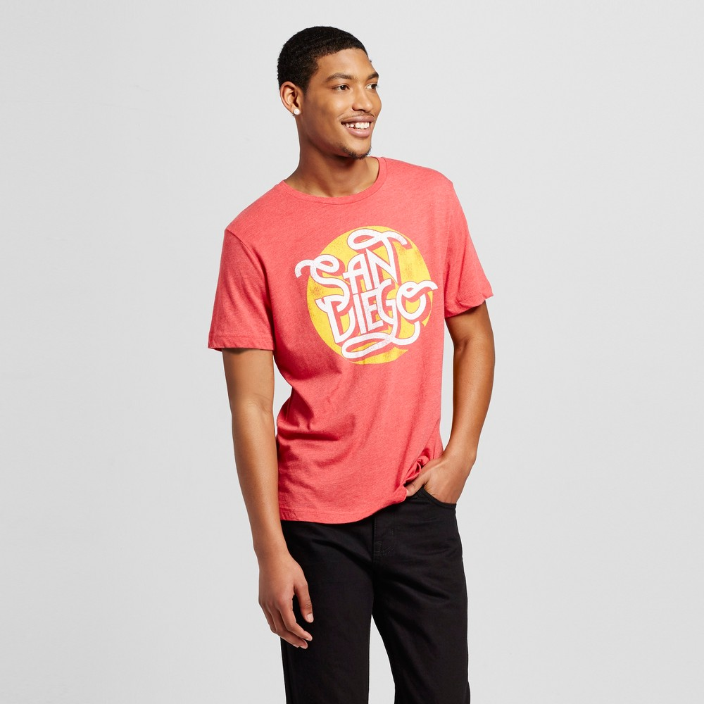 Mens California San Diego Scrolls T-Shirt M - Red