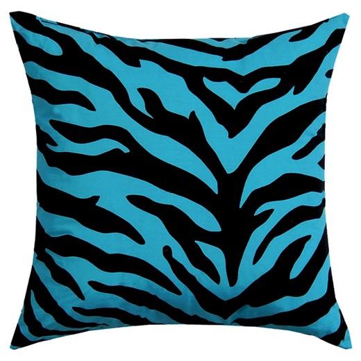 Zebra Throw Pillows Target : Blue Zebra Print Bolster Throw Pillow (21