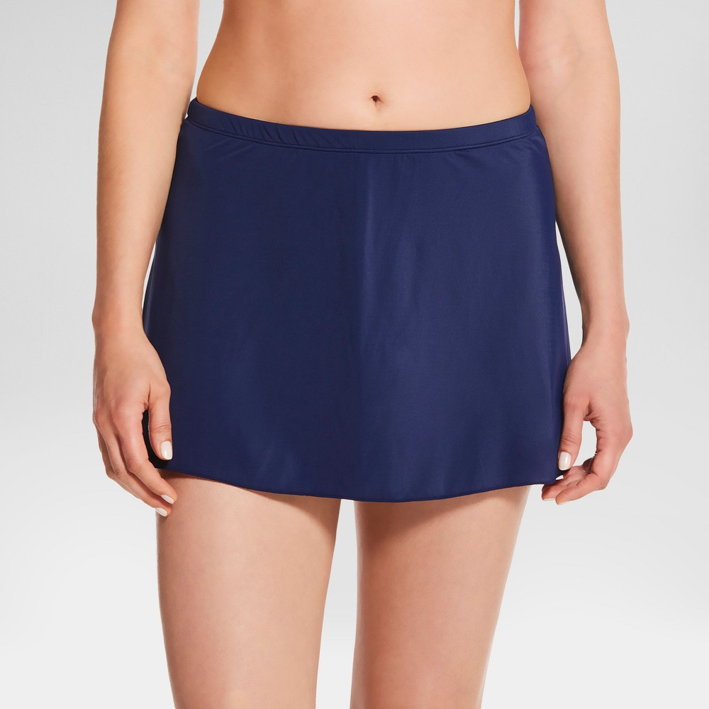 Womens Slimming Control Core Swim Skirt - Navy (Blue) - 8 - Dreamsuit by Miracle Brands