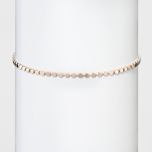 s thin metal choker necklace gold 13 quot target