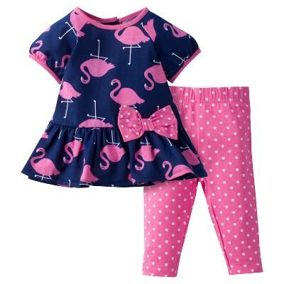 Baby Girls' 2 Piece Tunic and Leggings Set Flamingo Pink 3-6M - Gerber®