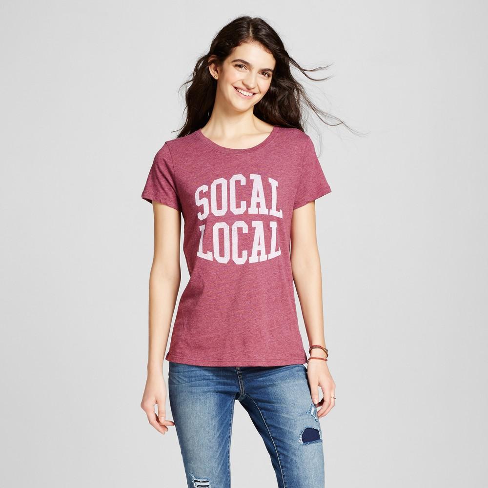 Womens Los Angeles SoCal Local T-Shirt M - Burgundy (Juniors), Purple