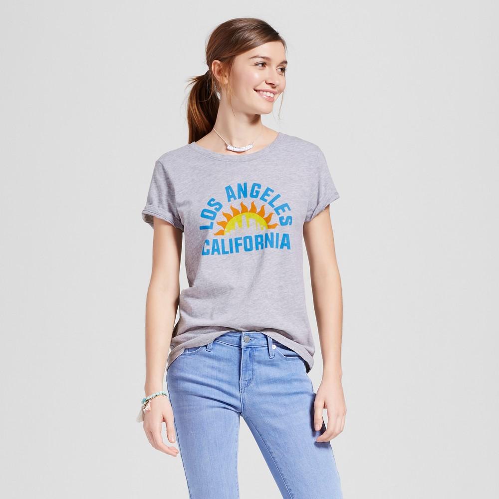 Womens Los Angeles City Rays T-Shirt XL - Heather Gray (Juniors)
