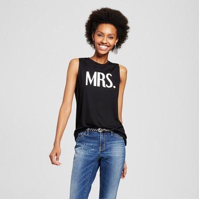Women's Mrs. Bridal Graphic Tank Black XL - Modern Lux