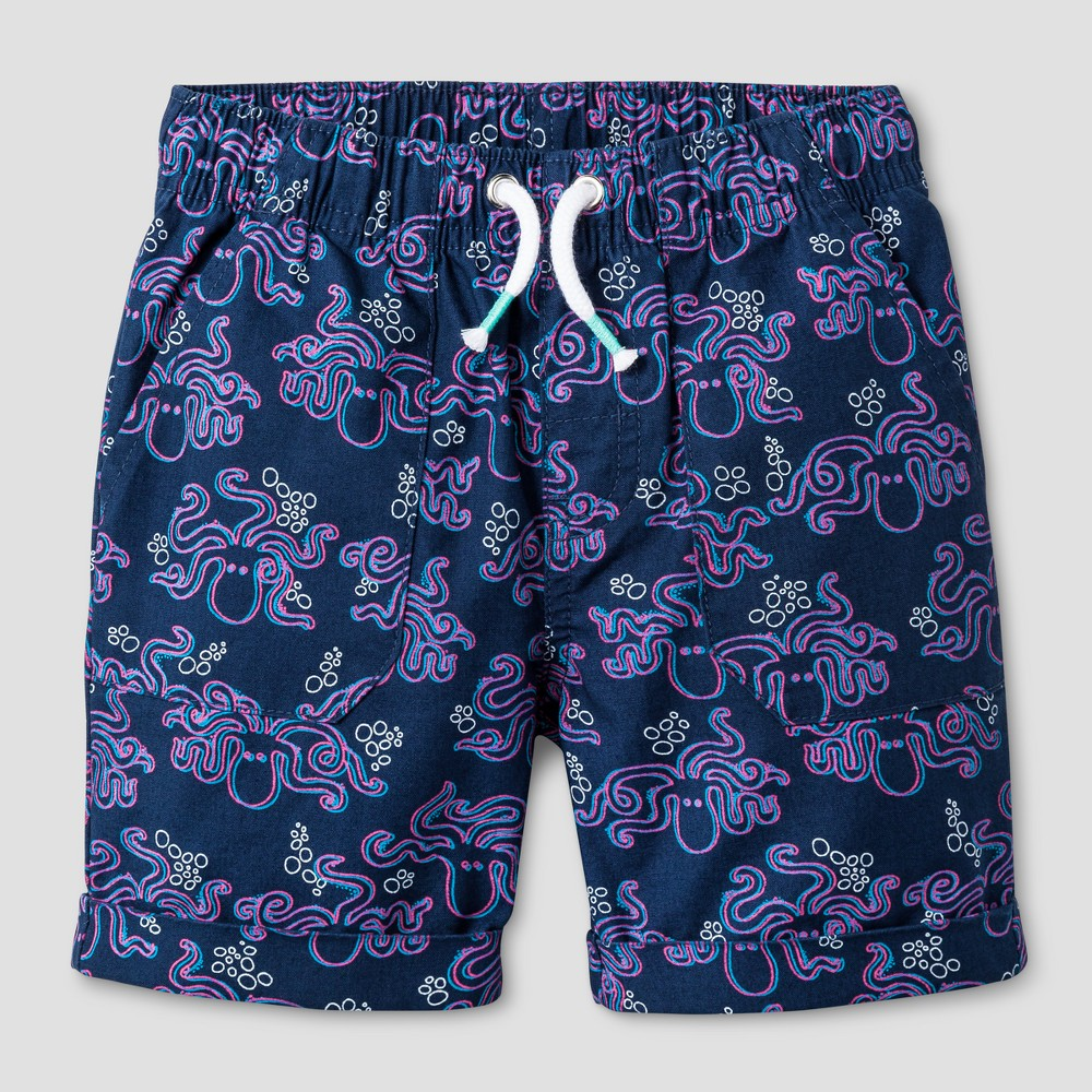 Toddler Boys 3D Octopus Print Pull-on Shorts Insignia Blue 4T - Cat & Jack
