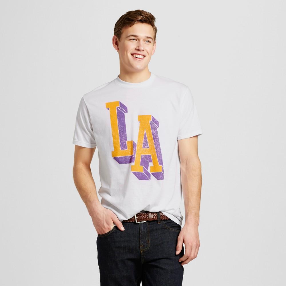 Mens Los Angeles LA All Day T-Shirt L - White
