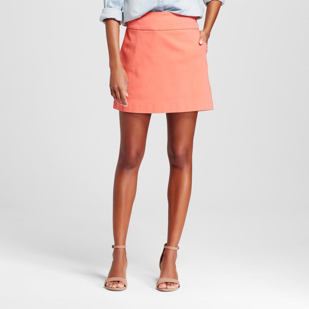 Women's Solid Pull-on Skort with Pockets – Coral 16 – Zac & Rachel, Orange